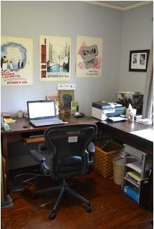 Home office (closed door not shown)