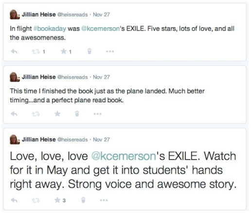 Jillian Exile Triple tweet
