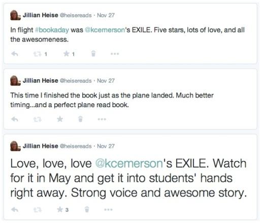Jillian Exile Triple tweet