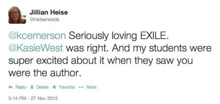 Jillian Exile Tweet