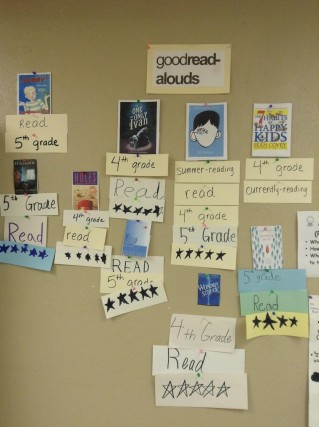 good read alouds wall