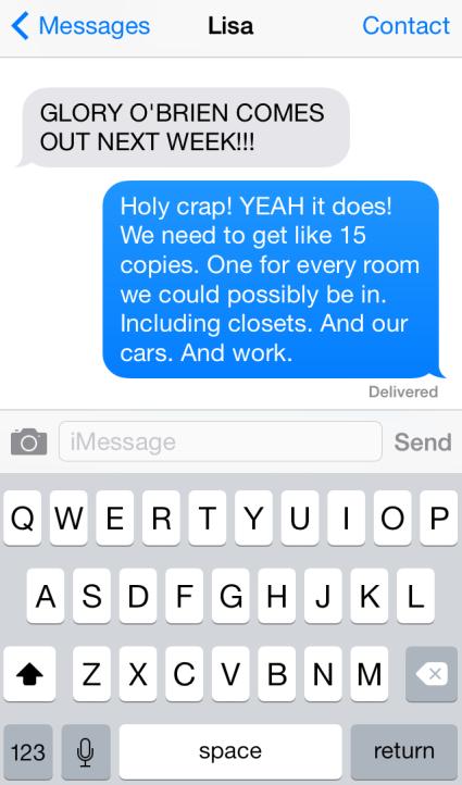 Glory O' Brien Text
