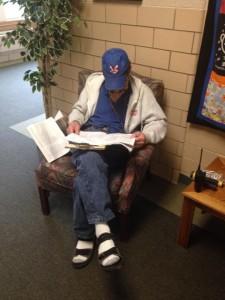 Our custodian, Mr. Dan, getting in his 20 minutes