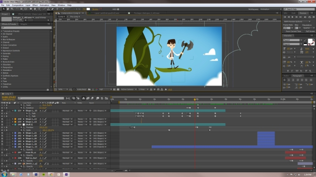 Here's what my screen looks like when I'm animating.