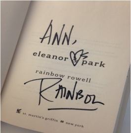 signed eleanor and park