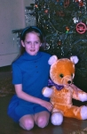 Deborah Underwood and her teddy bear Ursa Major