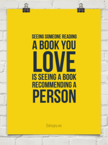 See a book recommend a person
