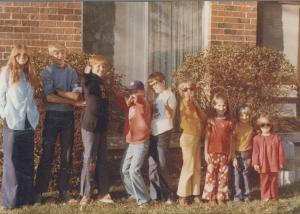 My family circa 1975 (missing the two youngest)