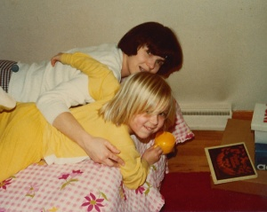 Because of this picture, I was able to puzzle out the title of one of my first book memories, The Pumpkin Smasher by Anita Benarde, which was reissued in 2013. I wrote about it here.
