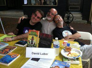 Jordan Sonnenblick, Dan Gutman, and me