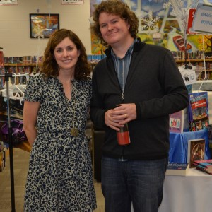 Lindsey Anderson with author Nathan Hale