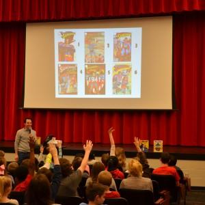 Marc Tyler Nobleman speaks to students