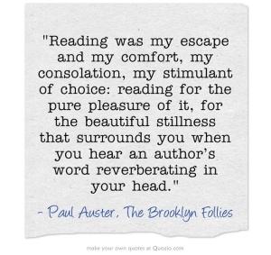 paul auster reading escape quote