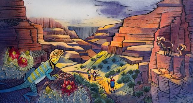 from The Canyon, illus credit Ashley Wolff