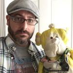 Josh Funk Headshot with Monkey Dude
