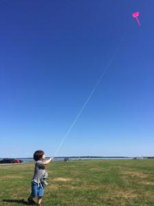 Our son, already flying high.